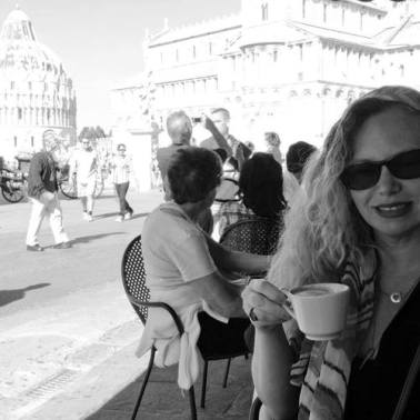 Just a dreamy memory, sipping cappuccino in Pisa under the leaning tower.